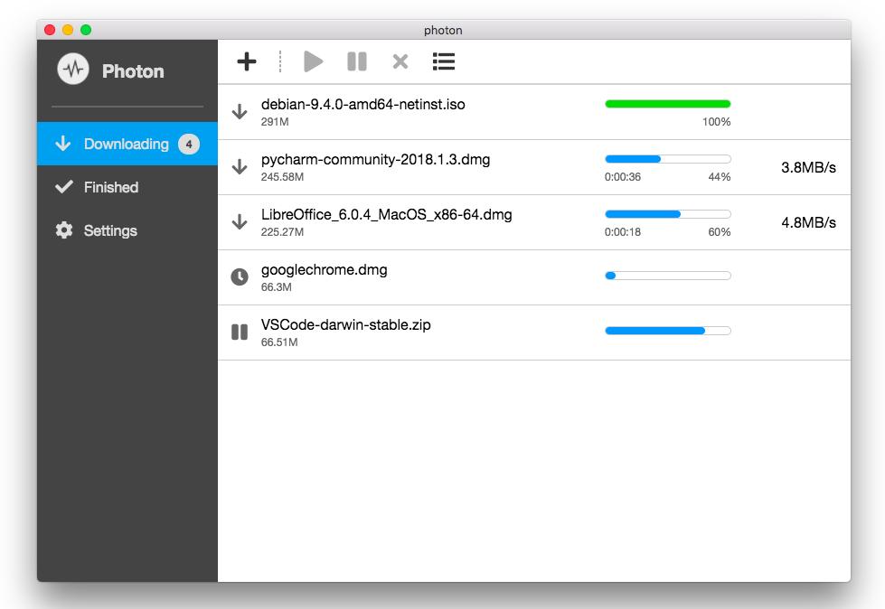 Photon:免配置 Aria2 免费开源下载工具